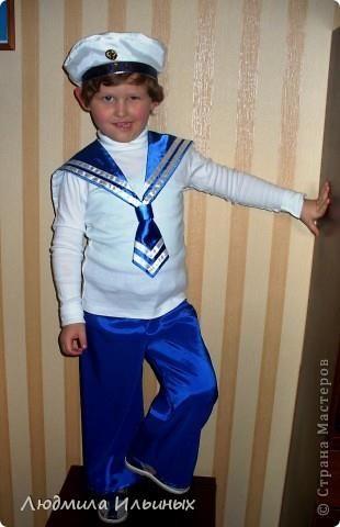 Выкройка детского костюма моряка