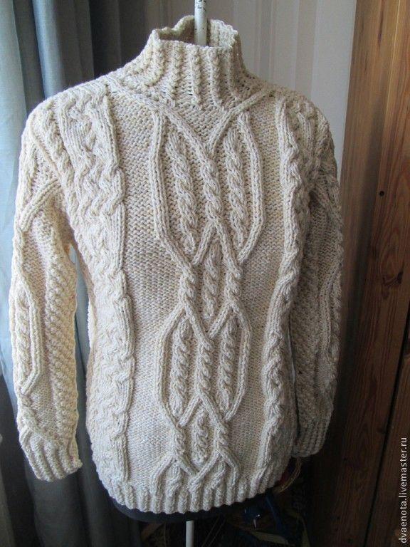 Купить свитер с аранами - араны, свитер для всей семьи, свитер вязаный, свитер женский, свитер мужской