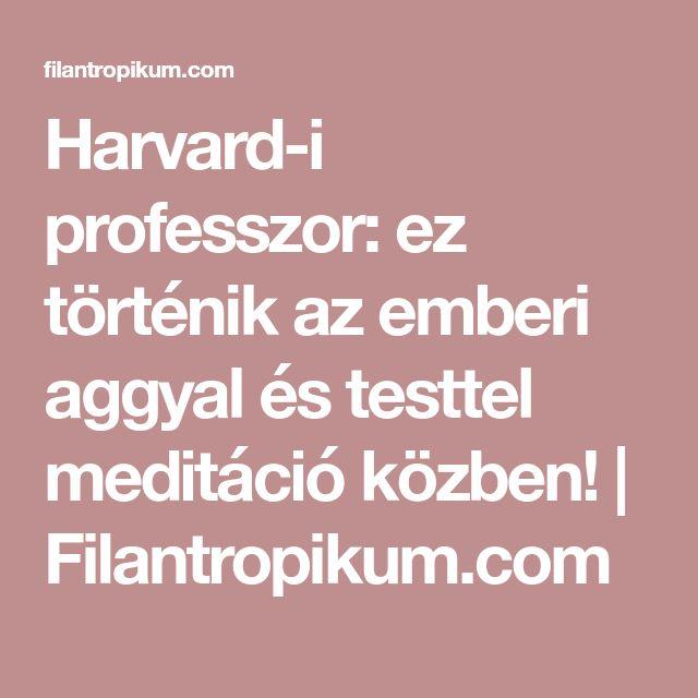 Harvard-i professzor: ez történik az emberi aggyal és testtel meditáció közben! | Filantropikum.com
