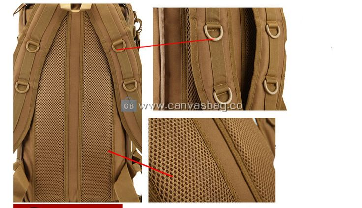 Army Rucksack Large Hiking Bag Canvas Bag