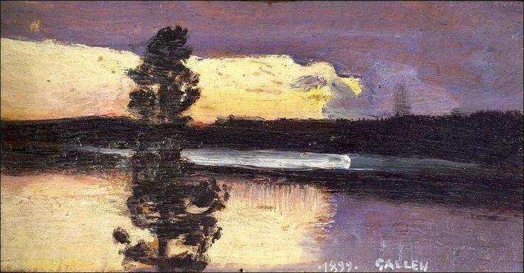 Akseli Gallen Kallela - Auringonlasku