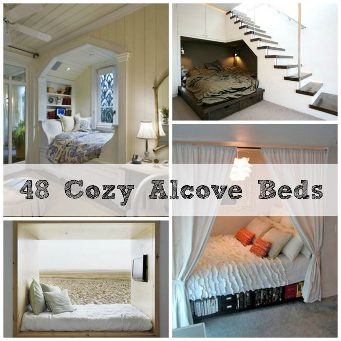 48 Totally Cozy Alcove Beds. I'm moving into a studio with an alcove. how handy!