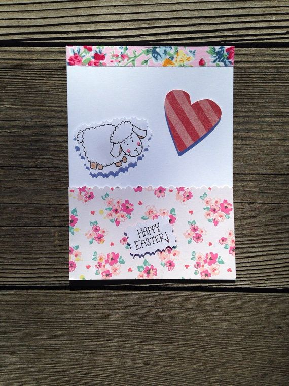 Hey, I found this really awesome Etsy listing at https://www.etsy.com/listing/218460623/lamb-happy-easter-card-handmade-hand