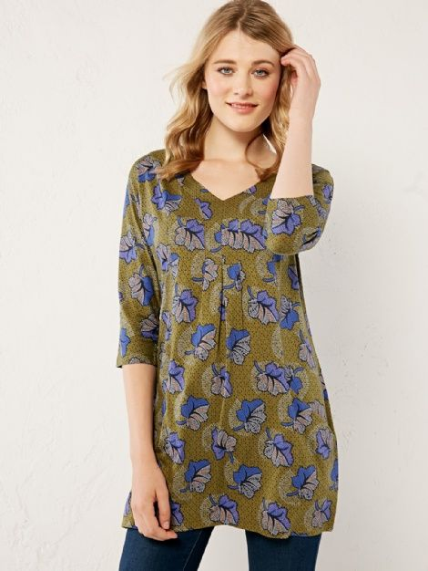 African leaf jersey tunic