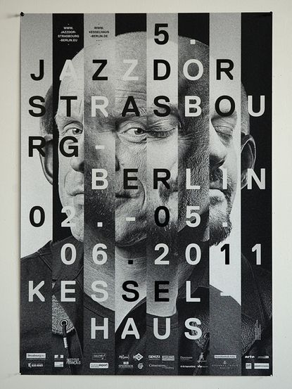 cut up typography_Jazz Event Poster Design