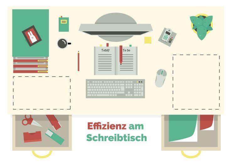 Titelillustration Effizienz am Schreibtisch' //  inspirmation Newsletter von ELISABETH DEIM