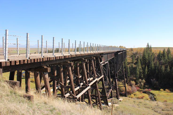 Hiking trails 100 miles around Rexburg > This is the Conant Creek Pegram Truss Railroad Bridge