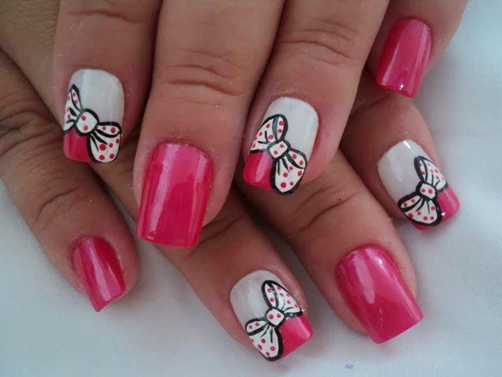 decoraciones para uñas cortas