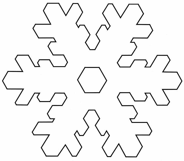 Large Printable Snowflake Pattern Easy