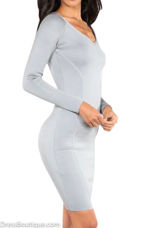Let your style shine through with this grey silver bodycon dress thats perfect for everything from the office to an evening out. Free shipping on orders over $50.