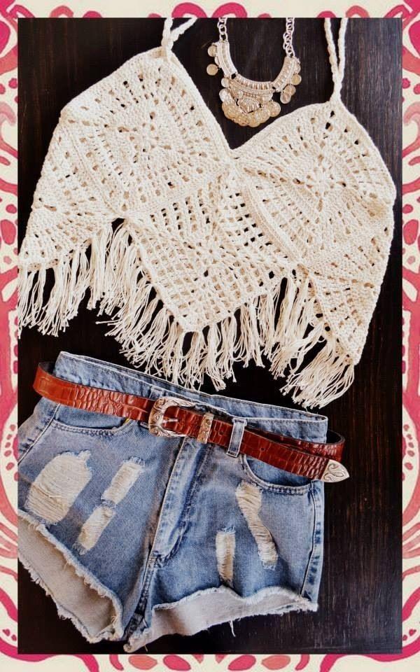 musculosas crochet boho