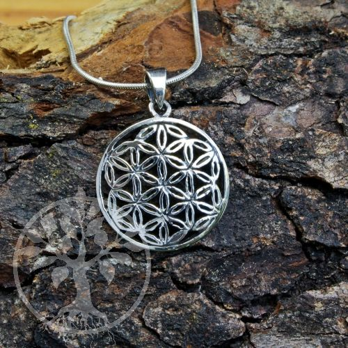 Blume Des Lebens Silber Anhanger 04 Silber Anhanger Blume Des Lebens Silber