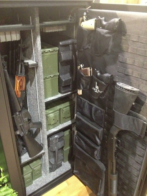 The interior of Liberty Safes new Tactical Series Safe is ...