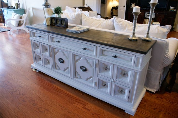 DIY Stained-and-Painted-Sideboard. Great pictures of before and after (This Dresser was Hideous!). Can't wait to do this to an ugly dresser I was going to chuck!