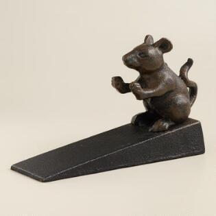 Cast Iron Mouse Doorstop