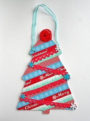 Washi tape Christmas tree decoration!