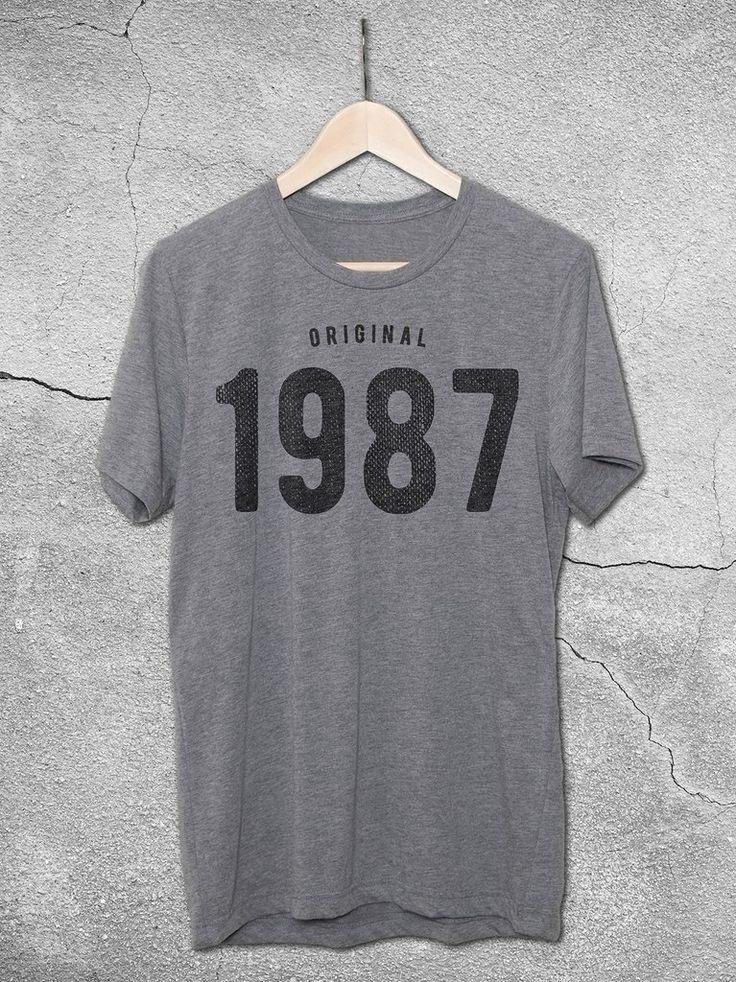 30th Birthday Ideas For Men -   1987 Tee - 30th birthday Gift Ideas For Women | Original 1987 Vintage T-Shirt – Hello Floyd