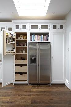 Open Shelving above Ref.   Pantry   Hampton American Style Kitchen Larder