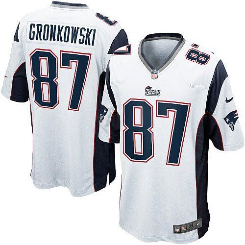 New Men's White NIKE Limited New England Patriots #87 Rob Gronkowski NFL Jersey | All Size Free Shipping. Size S, M,L, 2X, 3X, 4X, 5X. Our massive selection of Men's White NIKE Limited New England Patriots #87 Rob Gronkowski NFL Jersey coupled with our competitive prices, fast shipping and friendly service for nike jerseys is why we are the largest fan shop online.$89.99