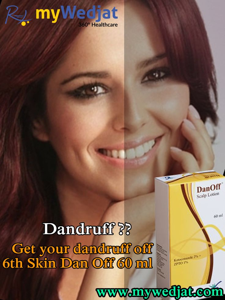 The Dan Off lotion regulates natural function of the scalp and prevents dandruff formation...