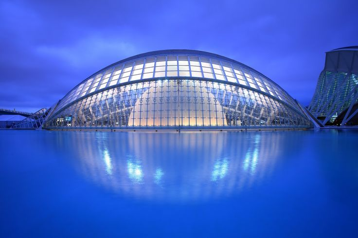 City of Arts and Sciences Valencia Spain  #SantiagoCalatravaArchitecture Pinned by www.modlar.com