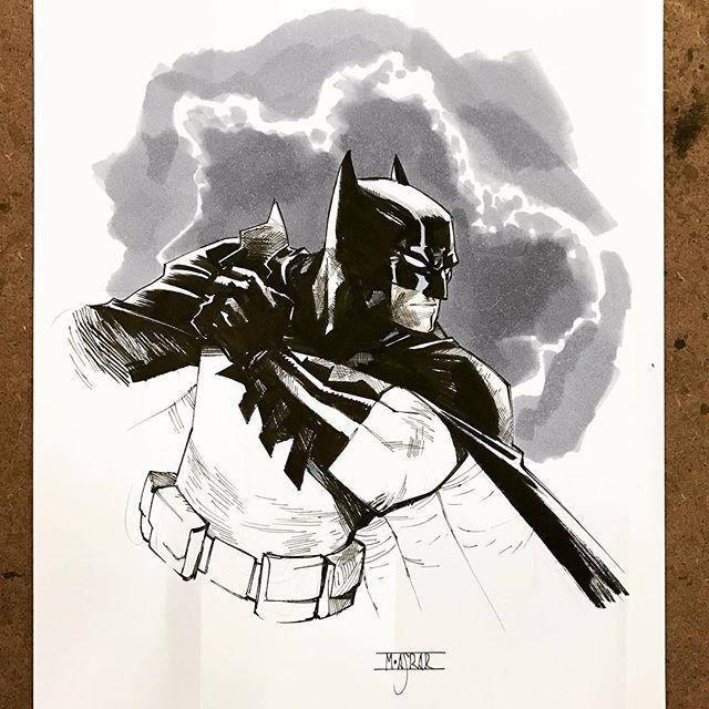 Batman by Mahmud Asrar  CCXP 2016 #batman #saopaulo #brazil #ccxp2016 #sketch #art #brucewayne