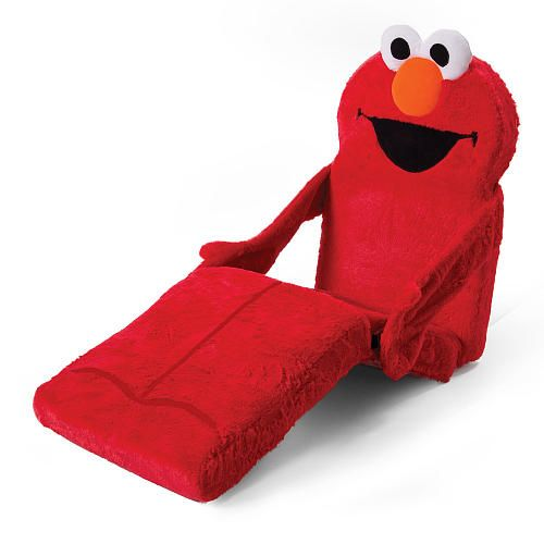 """Marshmallow - 3 in 1 Elmo Chair, Lounger, Nap Mat - Spin Master - Toys """"R"""" Us"""