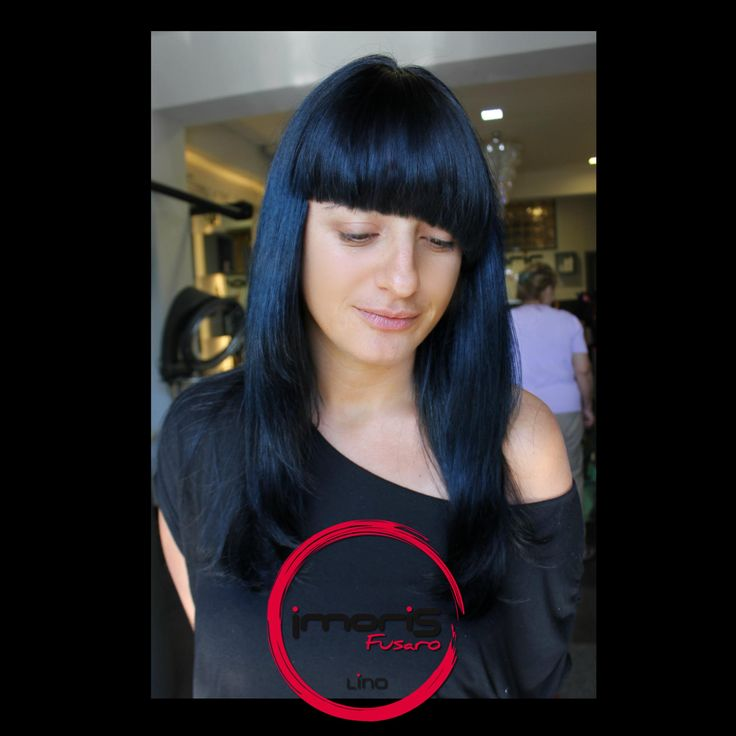 """GeometrY of Deep NighT""- #Frangia Assimetrica su un Nero/Blu Scopri il tuo stile da Imoris Fusaro!  #love #cool #fashion #night #blu #notte #fringe #frangetta #taglio #cut #geometry #hair #hairstyle #hairstyling #hairstudios #hairdresser #style #deep #parrucchiere #parrucchieri"