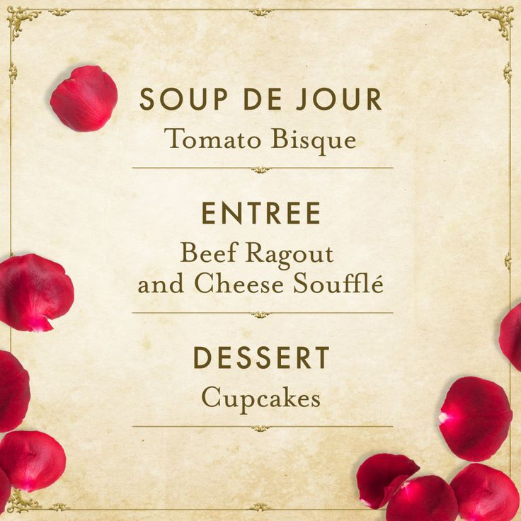 """You can't throw a dinner party without...dinner. Inspired by the spectacular """"Be Our Guest"""" scene, we put together the following menu."""