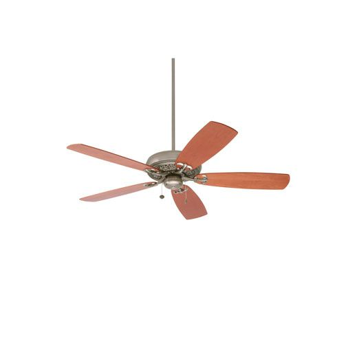 Crown Select Antique Pewter 54-Inch Ceiling Fan with Natural Cherry Blades