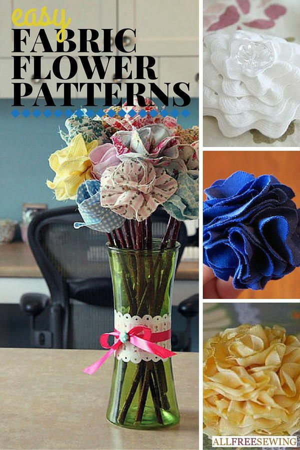 25+ Easy Fabric Flower Patterns | Fabric flowers last forever!