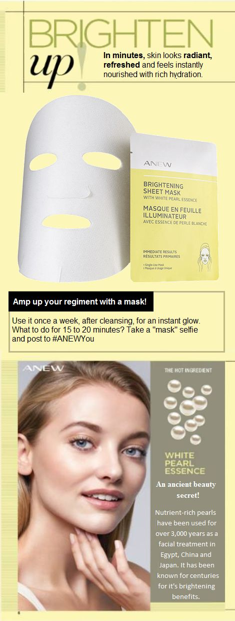 Our face-contouring masks continuously and evenly release white pearl essence for immediate and enhanced benefits. In minutes, skin looks radiant and refreshed, and feels instantly nourished with rich hydration.  1. Unfold mask carefully. 2. Align the mask with both eyes, then smooth it to adhere. 3. Leave on for 15 to 20 minutes. 4. Remove and massage serum into skin. Follow with moisturizer and eye cream