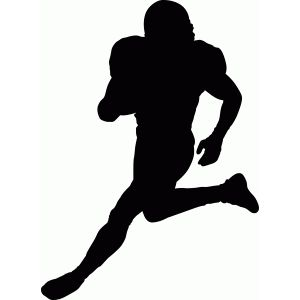 Football Player Boys Room Sports Football Silhouette