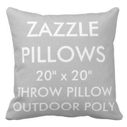 Zazzle Custom SILVER Large Outdoor Throw Pillow - decor gifts diy home & living cyo giftidea