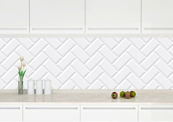 Removable Peel And Stick Wallpaper Herringbone White Subway Tile Peel And Stick Wallpaper By Peel And Stick Wallpaper White Subway Tile Herringbone Subway Tile