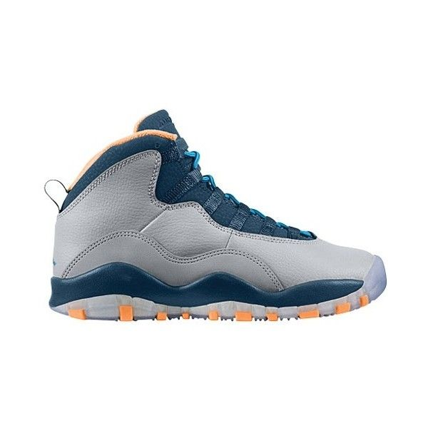 55a1d22e0d143e ... Jordan Retro 10 Boys  Grade School ( 120) ❤ liked on Polyvore featuring  shoes ...