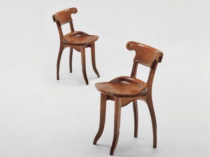 Solid wood chair Battló Collection by BD Barcelona Design | design Antoni Gaudí