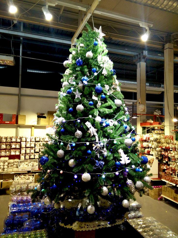 Albero di Natale Blu e Bianco