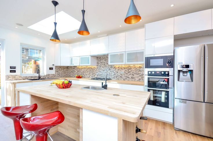 Kitchen, contemporary, white ideas - Home Interior & Design Inspiration - Foxtons