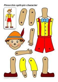 Pinocchio | bricolage - marionnette | llevoelinvierno.blogspot.mx - sparklebox.co.uk