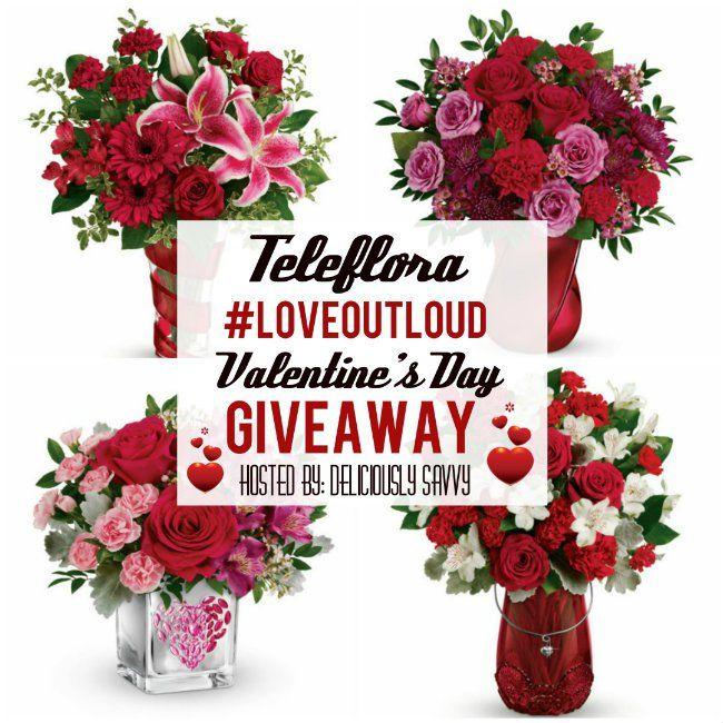 Teleflora #LoveOutLoud Valentine's Day Giveaway ~ 1 Winner ~ $75 Gift Certificate (Ends 2/07) #Teleflora