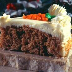 Carrot Cake (Cake Mix): 1 spice cake mix. 1 c diced carrots (I chop mine in a food processor). 1/3 cup vegetable oil. 4 eggs. 8 ozs crushed pineapple(with juice undrained). optional: 1/2 c chopped pecans, 1/2 c raisins.