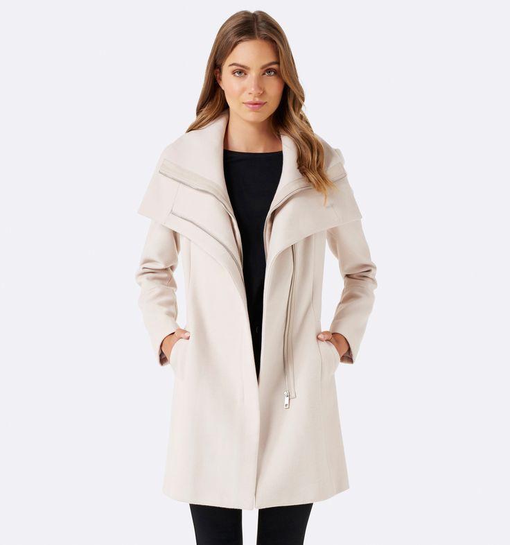 Penelope wrap coat Mink - Womens Fashion | Forever New