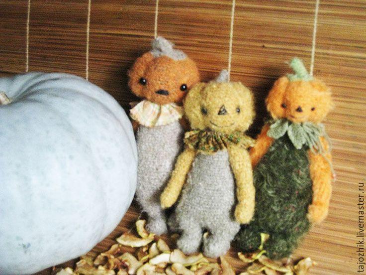 Купить Тыковки - комбинированный, игрушка ручной работы, авторская работа, авторская игрушка, вязаная игрушка