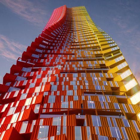 CRG Architects представи концепция за контейнер за доставка небостъргачи .: CRG Architects представи концепция за контейнер за доставка небостъргачи.