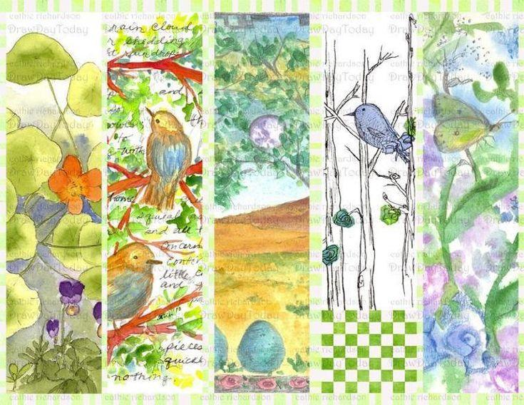 Bluebird Bookmarks | Craftsy
