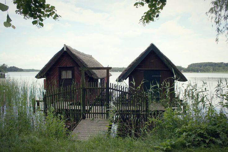 Boothäuser am Krakower See, Mecklenburger Seenplatte