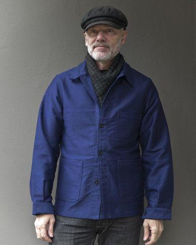 Le Laboureur Moleskin Work Jacket Navy