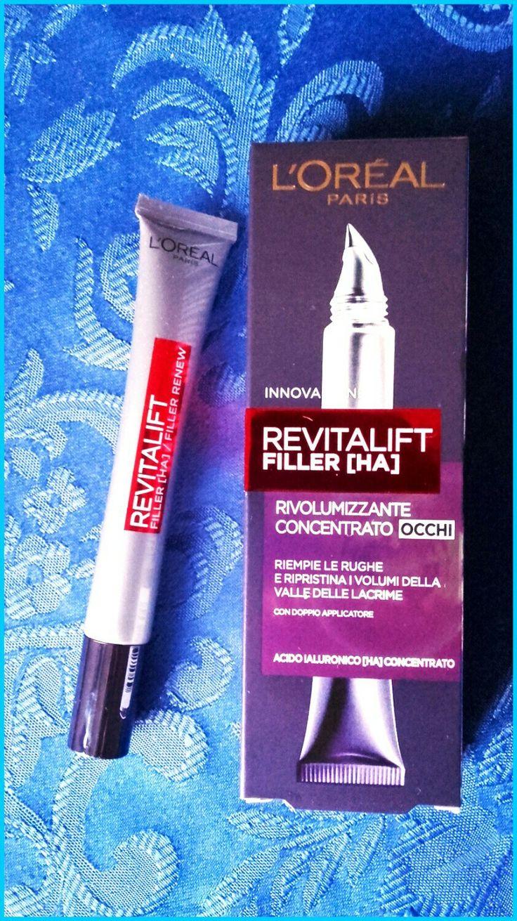 Revitalift Filler [HA]  de L'Oréal con acido ialuronico rivolumizzante concentrato occhi;perfetto per avere un contorno occhi senza segni del tempo e rughe. Ideale a partire dai 40 anni.