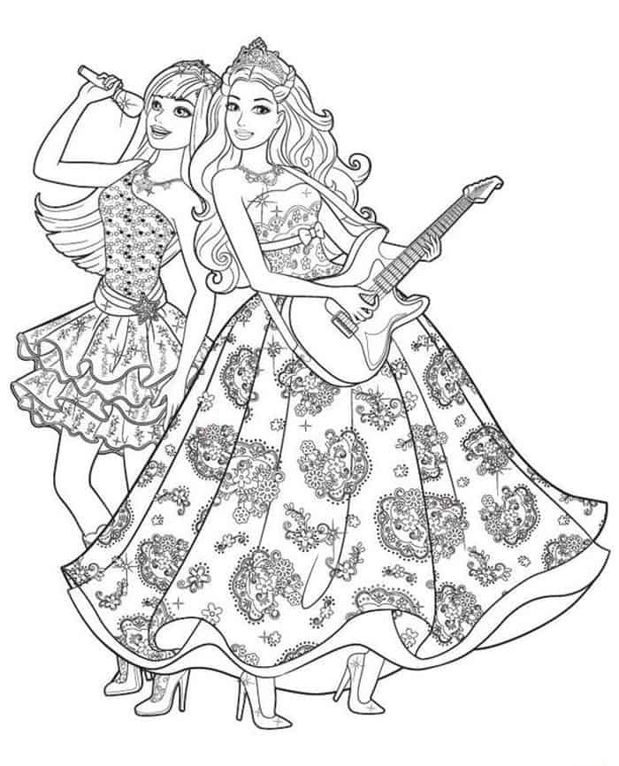 Barbie Princess And The Popstar Coloring Pages Barbie Coloring Pages Barbie Coloring Princess Coloring Pages